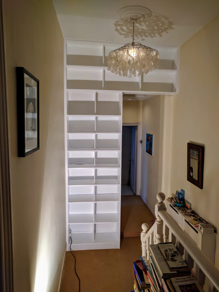 bespoke fitted shelving units greenwich