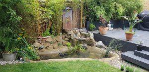 garden water feature pond waterfall