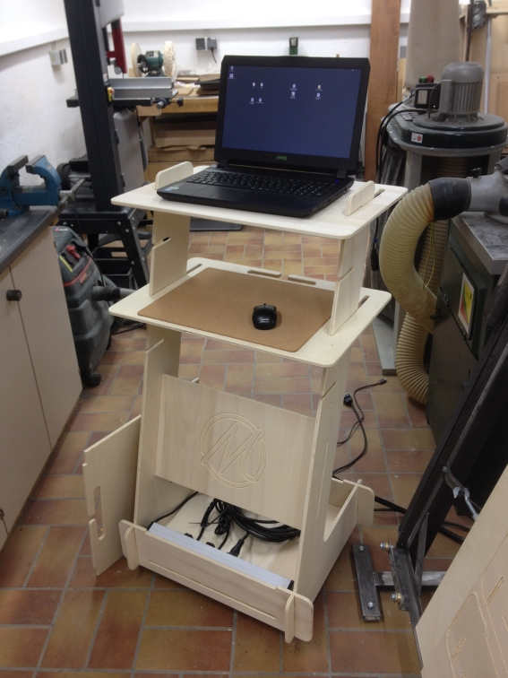 free open source stand up desk