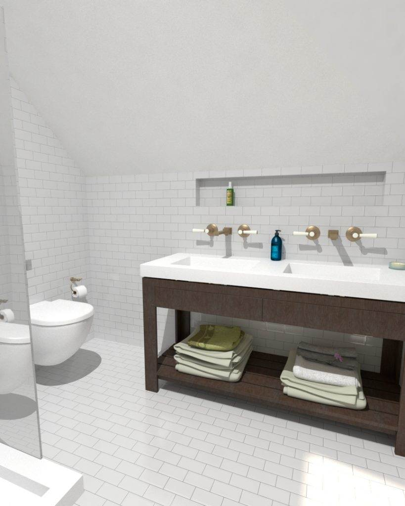 3D Loft Bathroom Design Greenwich