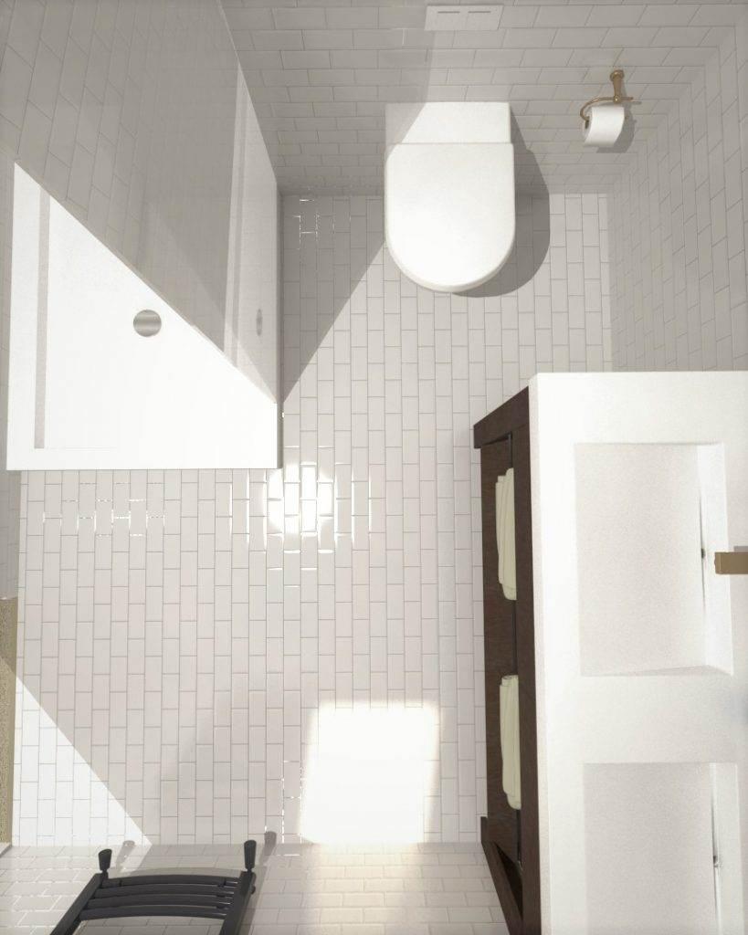 3D Loft Bathroom Design Greenwich