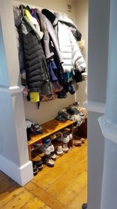 Upcycled Cloakroom Storage Solutions