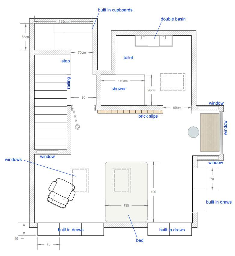 loft conversion 2d plans Greenwich
